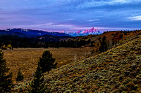 First Light On The Teton Range