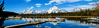 Gorgeous Scene Of The Tetons From The Coulter Bay Marina