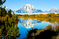 Mount Moran Reflection at Oxbow Bend