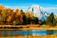 Mount Moran Enhanced With Fall Colors