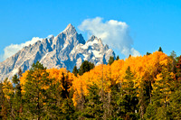 The Grand Teton With Wonderful Fall Colors
