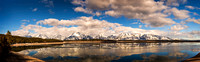 Grand Tetons and Jackson Lake Panorama